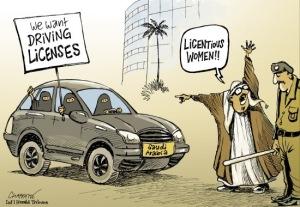 driving cartoon